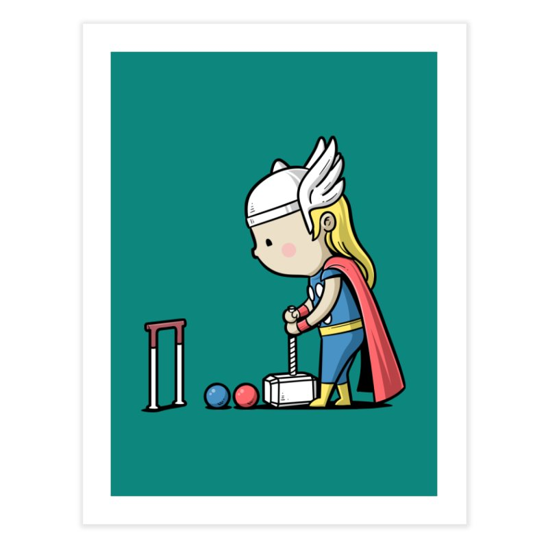 Sporty Buddy - Croquet Home Fine Art Print by Flying Mouse365
