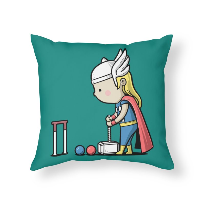 Sporty Buddy - Croquet Home Throw Pillow by Flying Mouse365