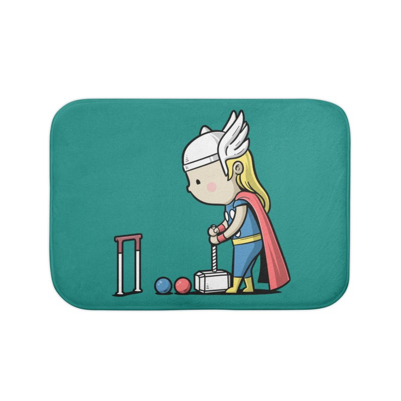 Sporty Buddy - Croquet Home Bath Mat by Flying Mouse365