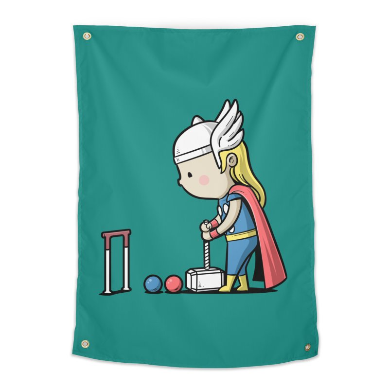 Sporty Buddy - Croquet Home Tapestry by Flying Mouse365