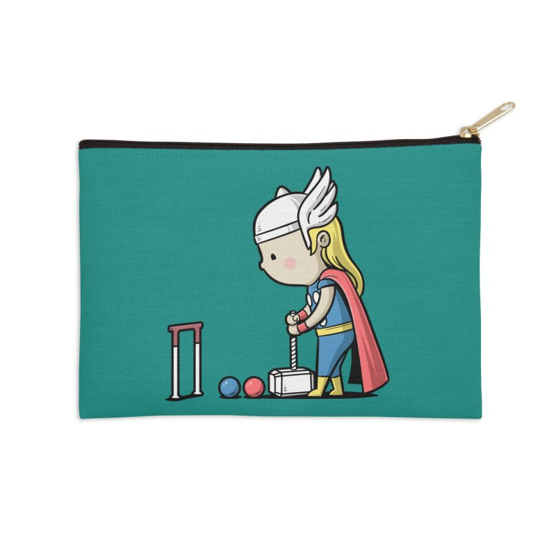 Sporty Buddy - Croquet Accessories Zip Pouch by Flying Mouse365