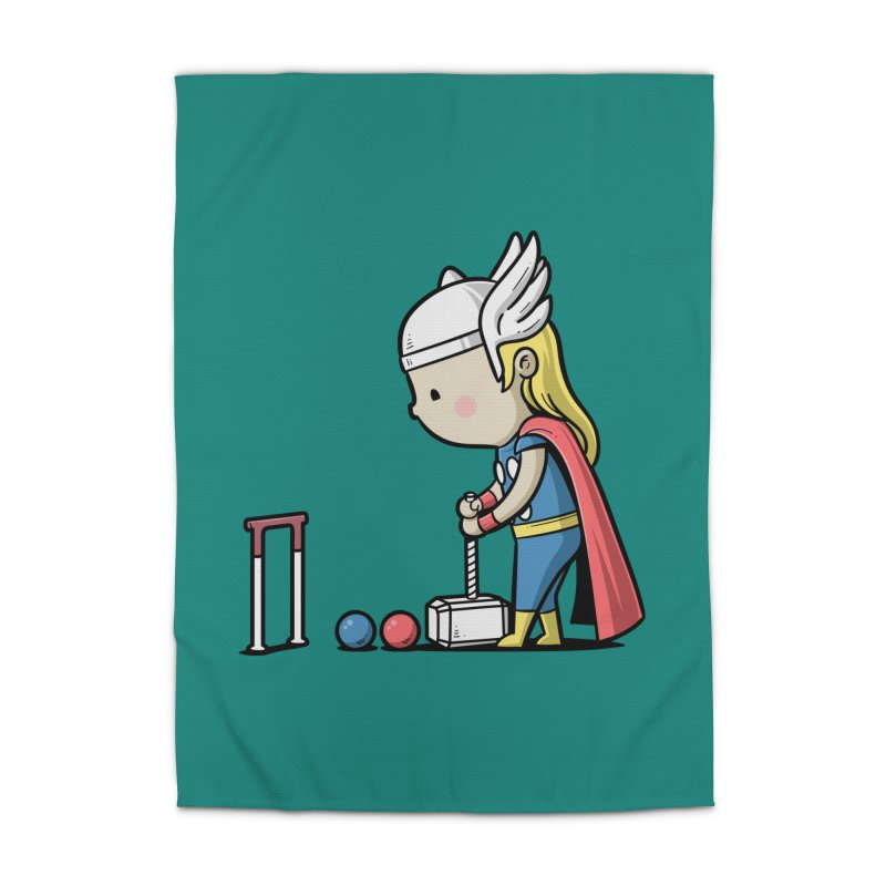 Sporty Buddy - Croquet Home Rug by Flying Mouse365