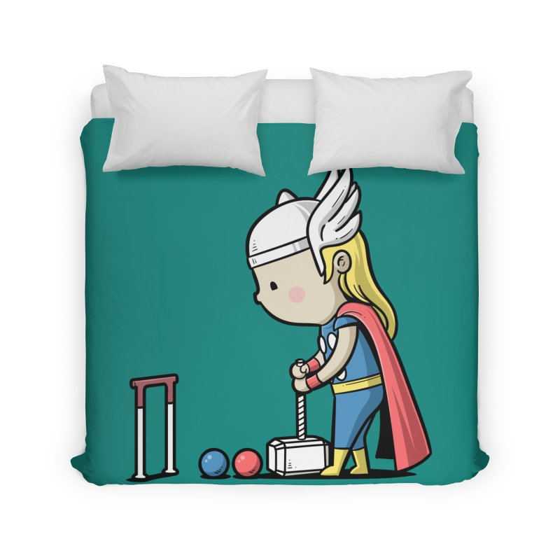 Sporty Buddy - Croquet Home Duvet by Flying Mouse365