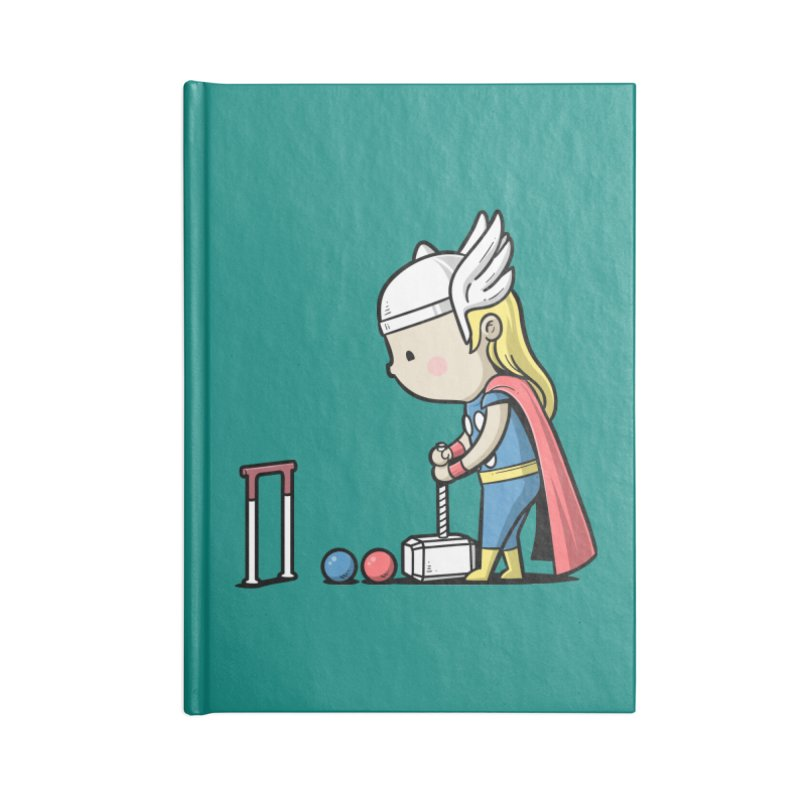 Sporty Buddy - Croquet Accessories Notebook by Flying Mouse365