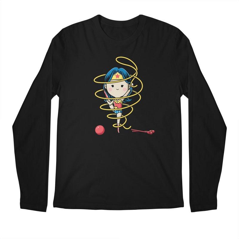 Spoty Buddy - Ribbon Men's Longsleeve T-Shirt by Flying Mouse365