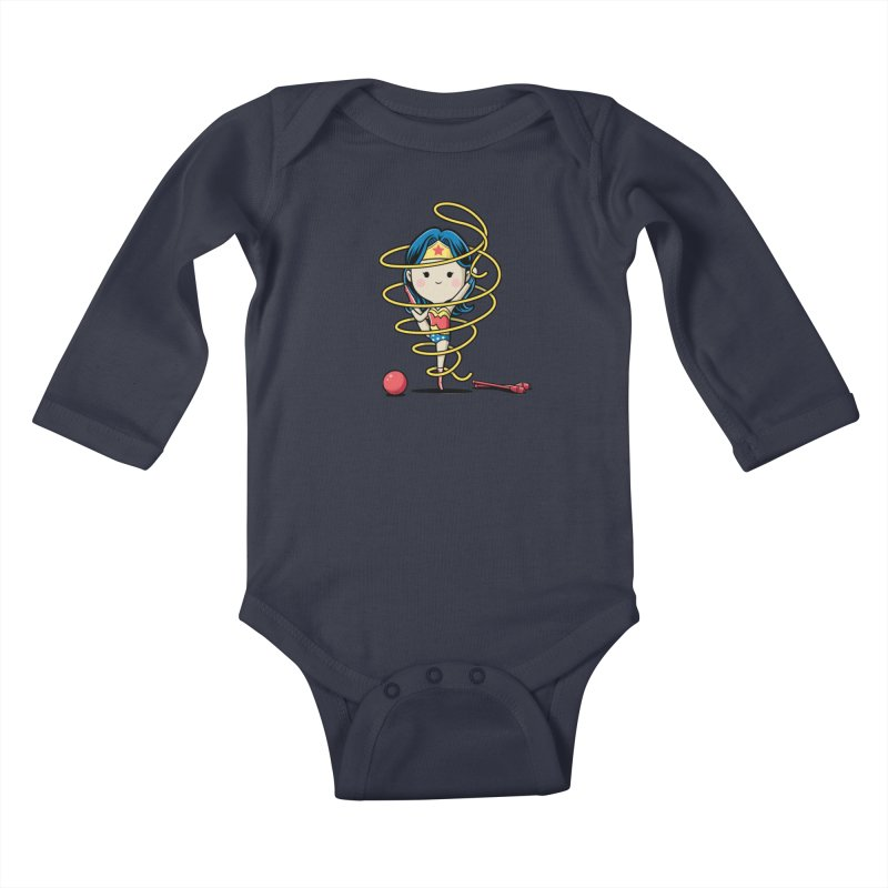 Spoty Buddy - Ribbon Kids Baby Longsleeve Bodysuit by Flying Mouse365