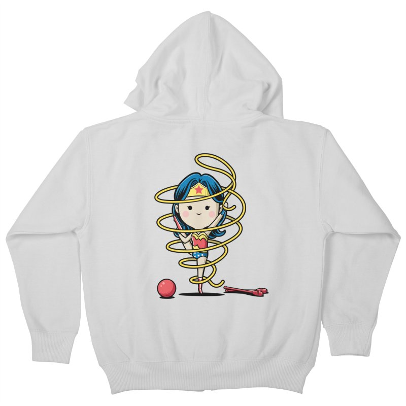 Spoty Buddy - Ribbon Kids Zip-Up Hoody by Flying Mouse365