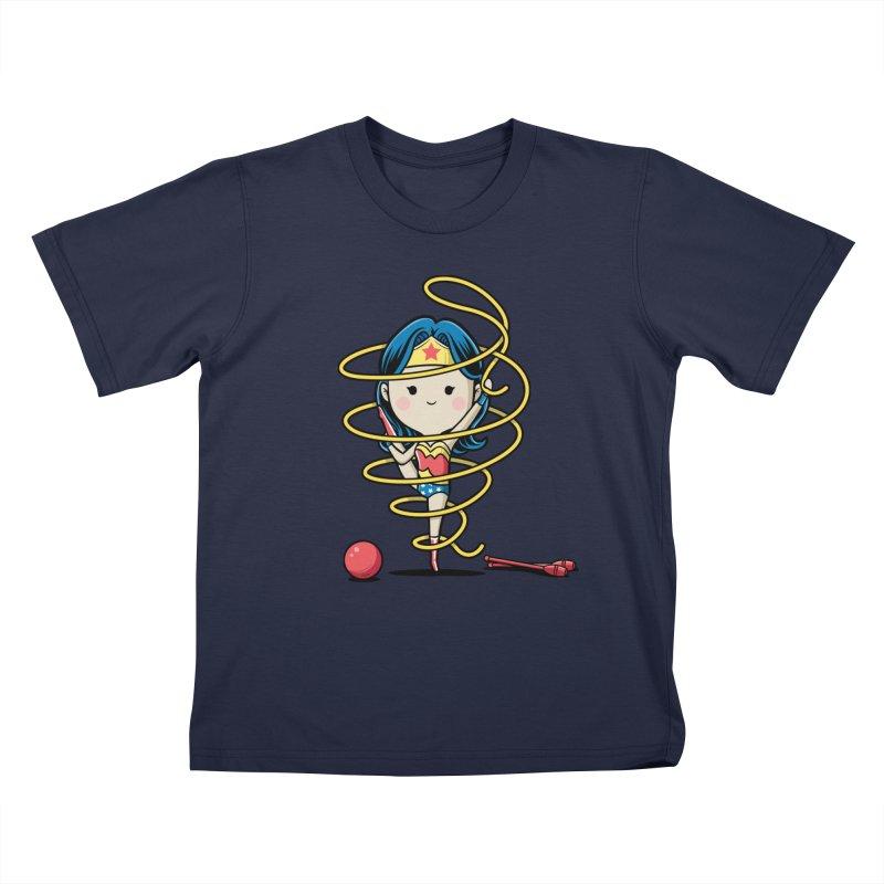Spoty Buddy - Ribbon Kids T-Shirt by Flying Mouse365