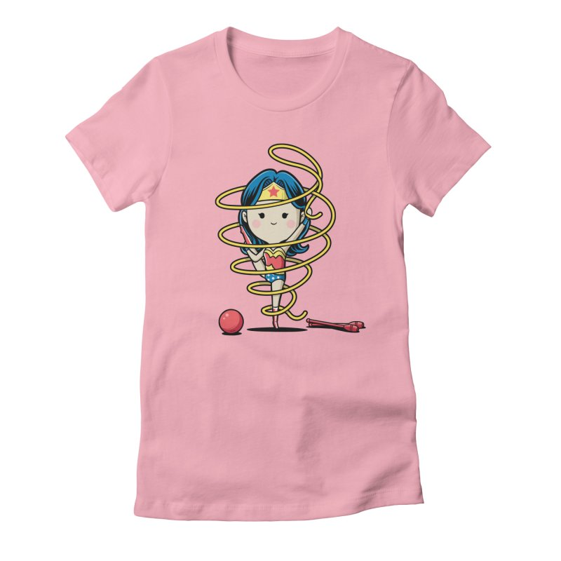 Spoty Buddy - Ribbon Women's Fitted T-Shirt by Flying Mouse365