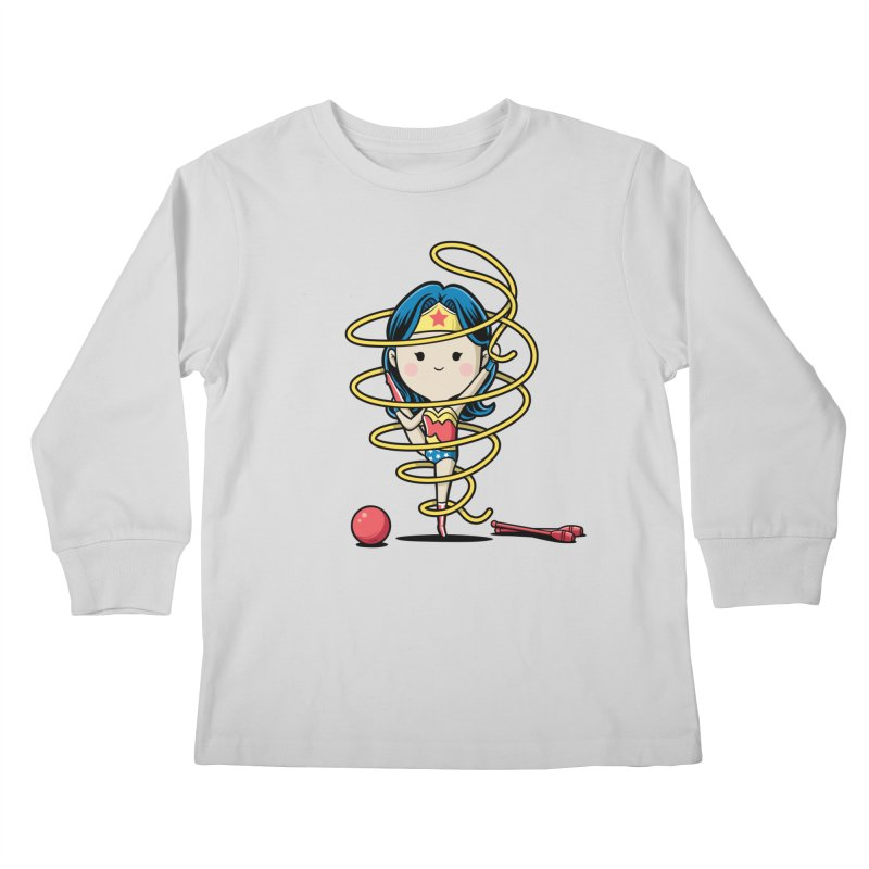 Spoty Buddy - Ribbon Kids Longsleeve T-Shirt by Flying Mouse365