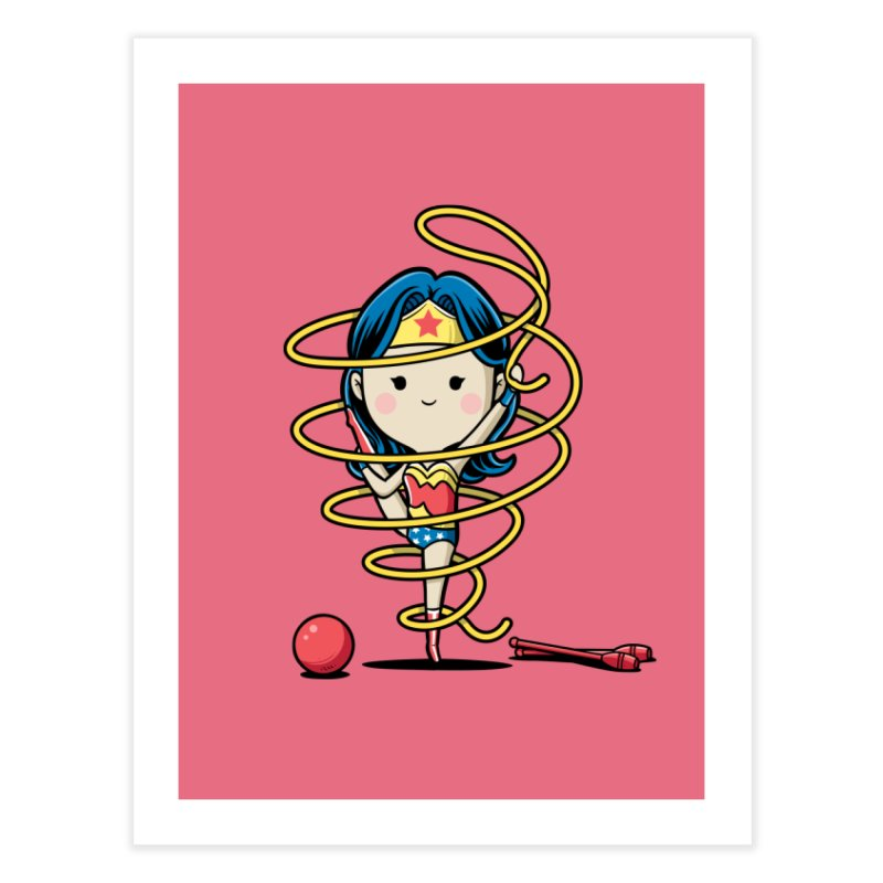Spoty Buddy - Ribbon Home Fine Art Print by Flying Mouse365