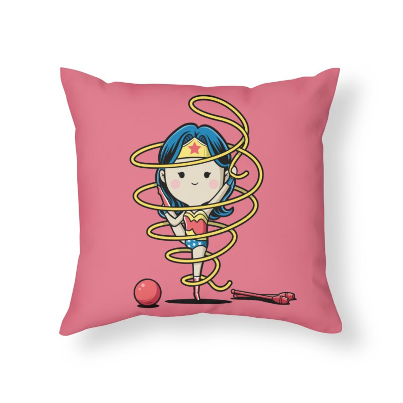Spoty Buddy - Ribbon Home Throw Pillow by Flying Mouse365