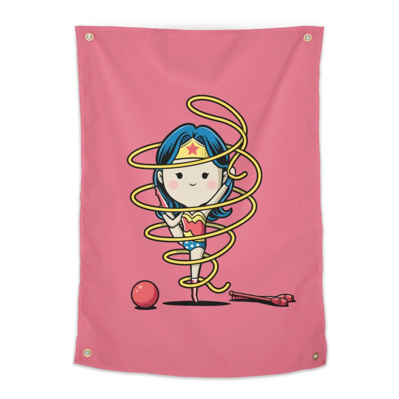 Spoty Buddy - Ribbon Home Tapestry by Flying Mouse365