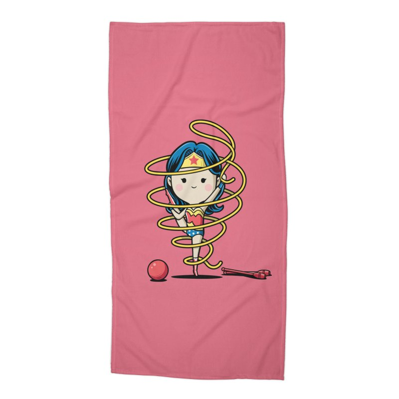 Spoty Buddy - Ribbon Accessories Beach Towel by Flying Mouse365