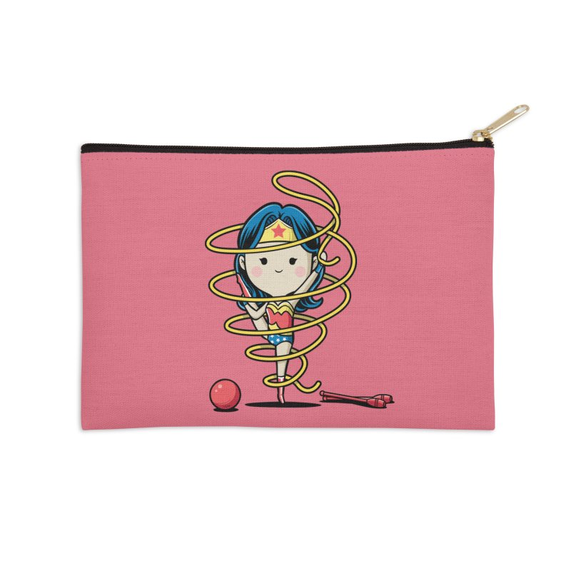 Spoty Buddy - Ribbon Accessories Zip Pouch by Flying Mouse365