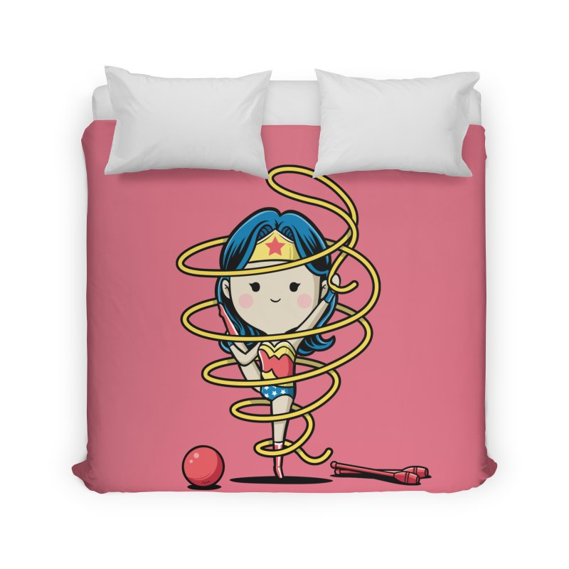 Spoty Buddy - Ribbon Home Duvet by Flying Mouse365