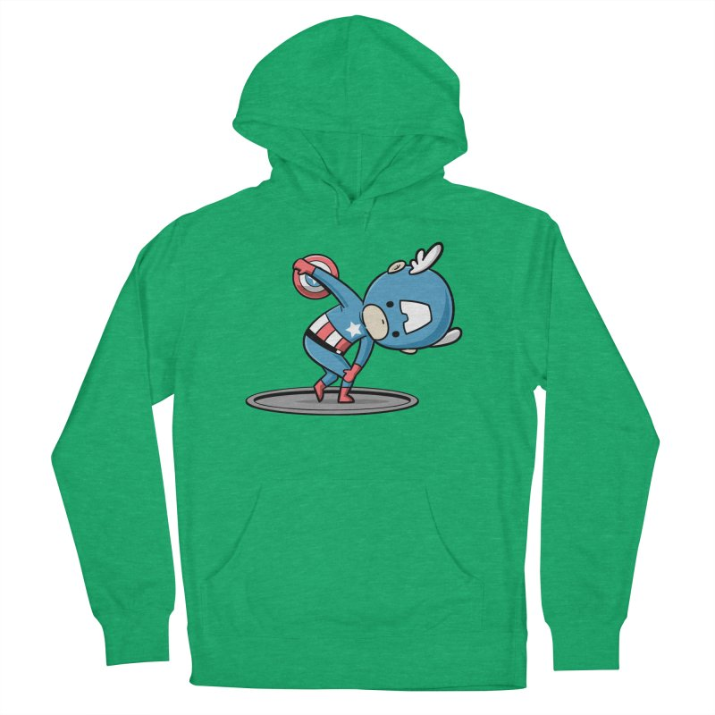 Sporty Buddy - Discus Throw Women's Pullover Hoody by Flying Mouse365