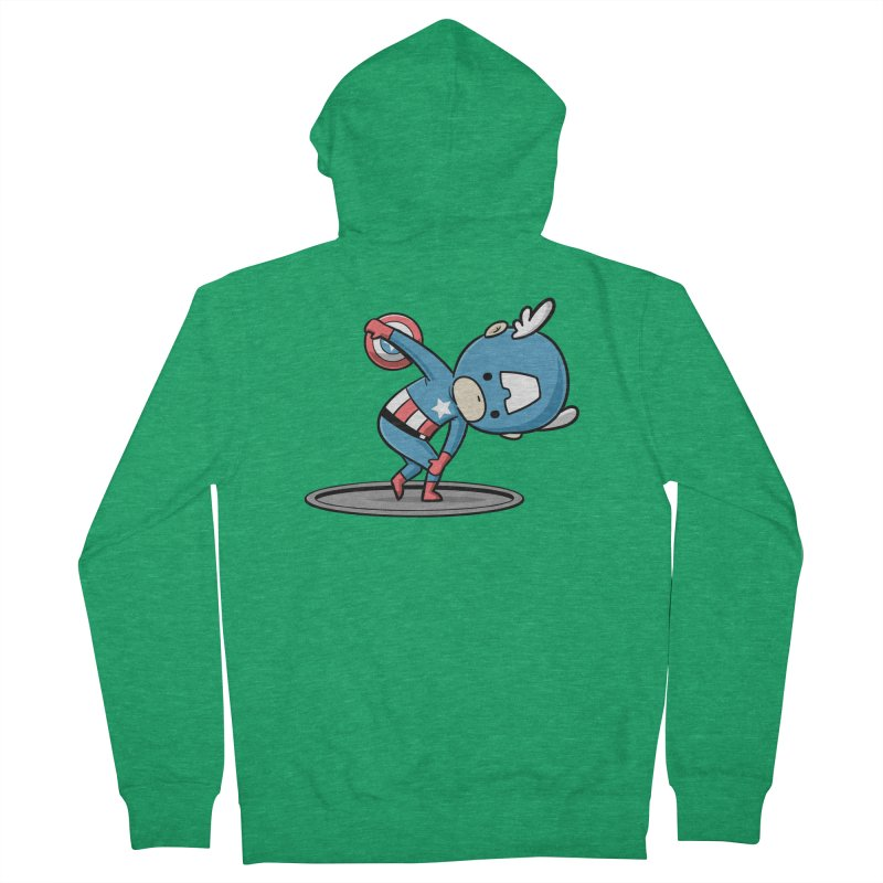 Sporty Buddy - Discus Throw Men's Zip-Up Hoody by Flying Mouse365