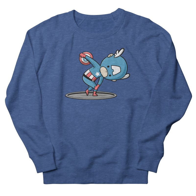Sporty Buddy - Discus Throw Men's Sweatshirt by Flying Mouse365