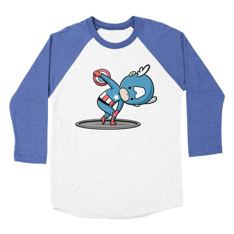 Sporty Buddy - Discus Throw Women's Baseball Triblend T-Shirt by Flying Mouse365