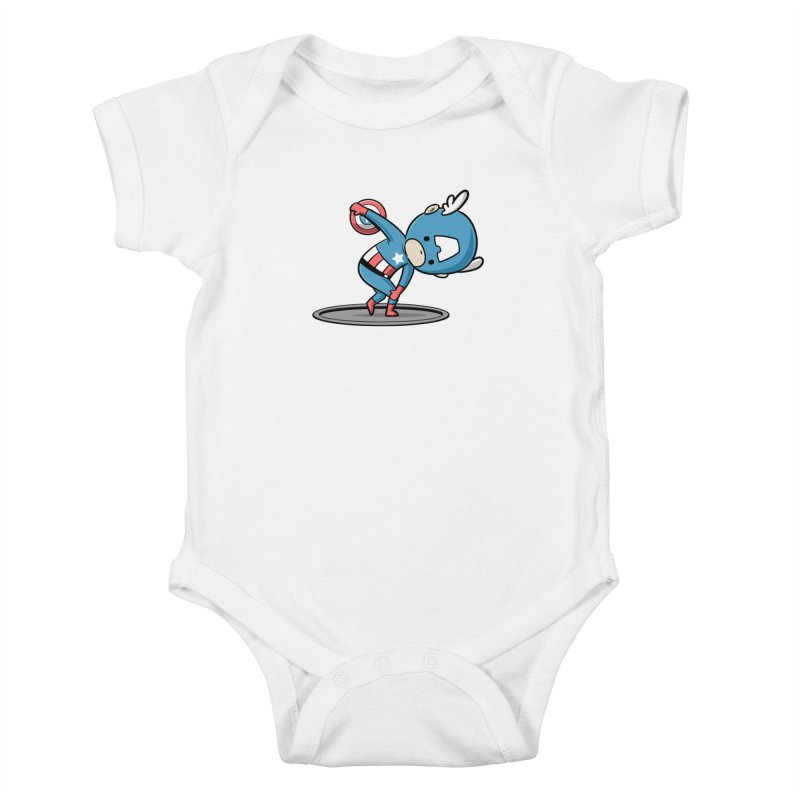 Sporty Buddy - Discus Throw Kids Baby Bodysuit by Flying Mouse365