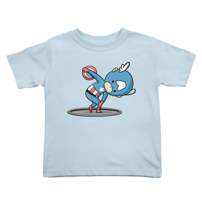 Sporty Buddy - Discus Throw Kids Toddler T-Shirt by Flying Mouse365