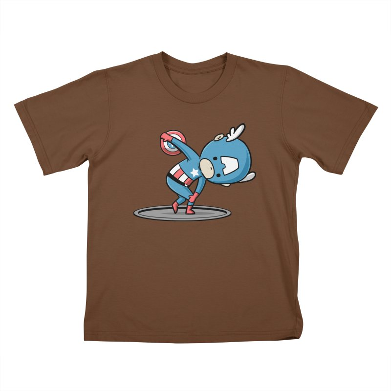 Sporty Buddy - Discus Throw Kids T-shirt by Flying Mouse365