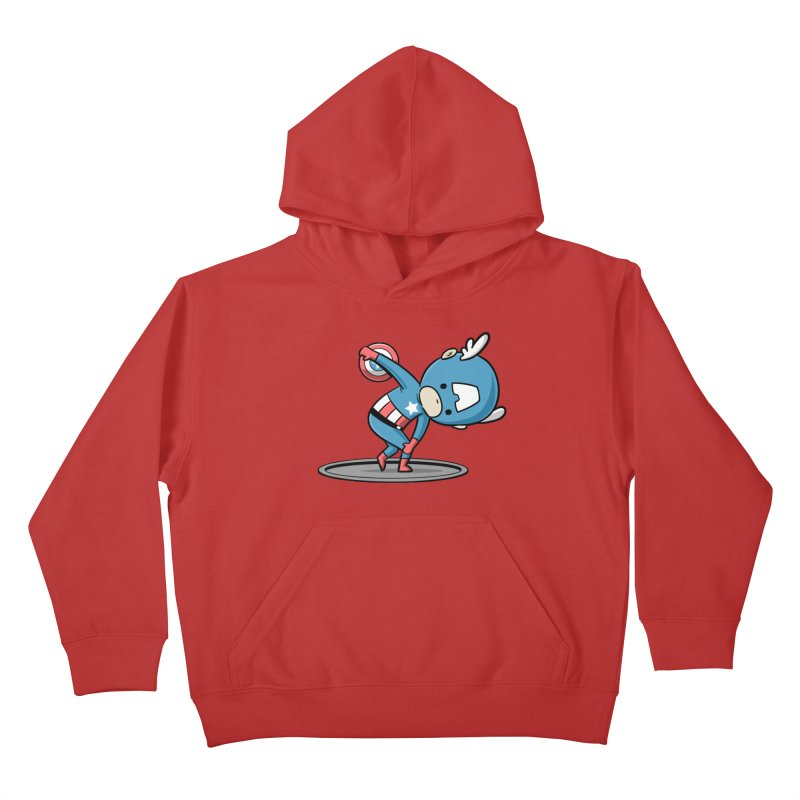 Sporty Buddy - Discus Throw Kids Pullover Hoody by Flying Mouse365