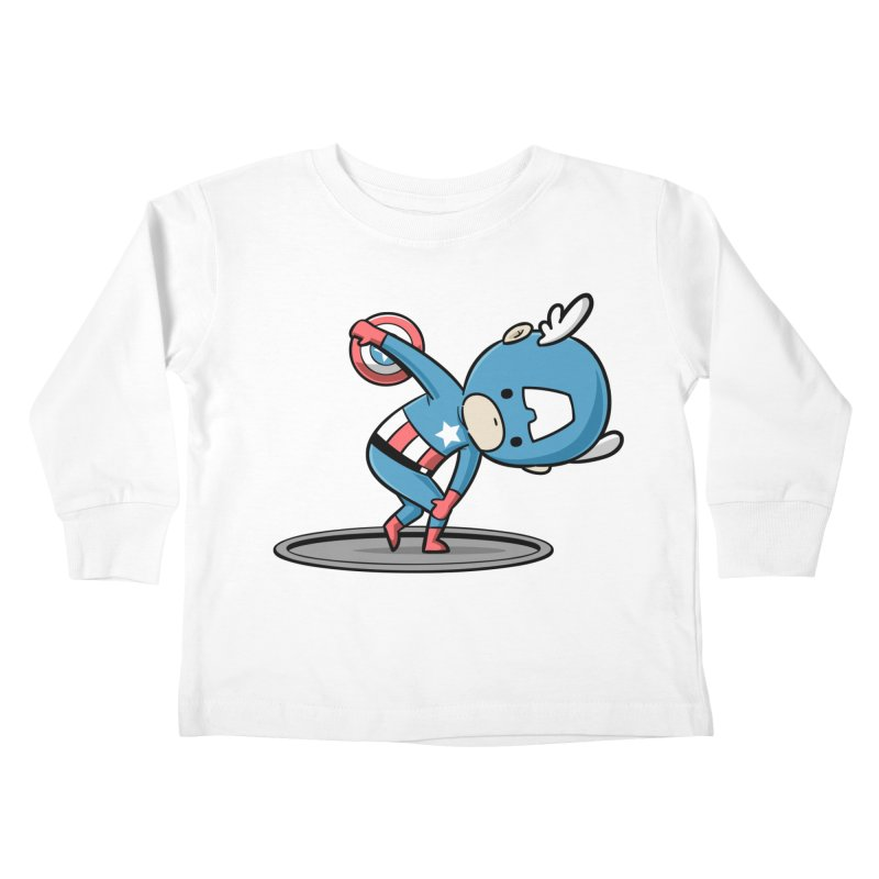 Sporty Buddy - Discus Throw Kids Toddler Longsleeve T-Shirt by Flying Mouse365