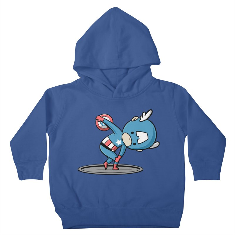 Sporty Buddy - Discus Throw Kids Toddler Pullover Hoody by Flying Mouse365