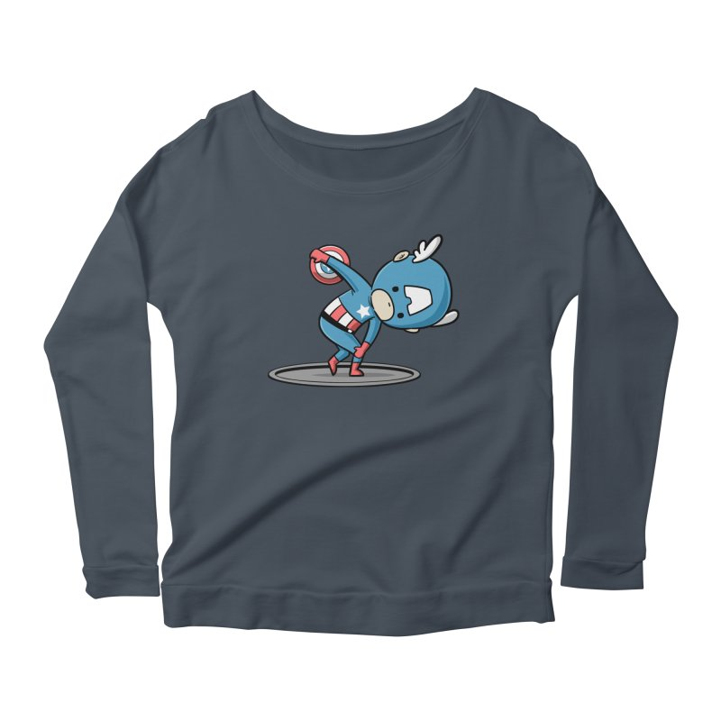 Sporty Buddy - Discus Throw Women's Longsleeve Scoopneck  by Flying Mouse365
