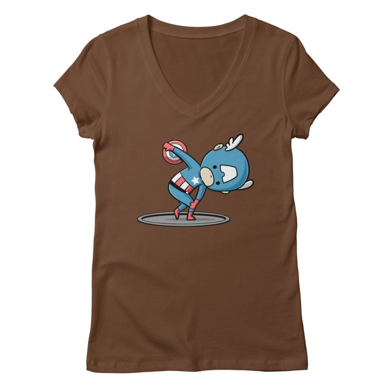 Sporty Buddy - Discus Throw Women's V-Neck by Flying Mouse365