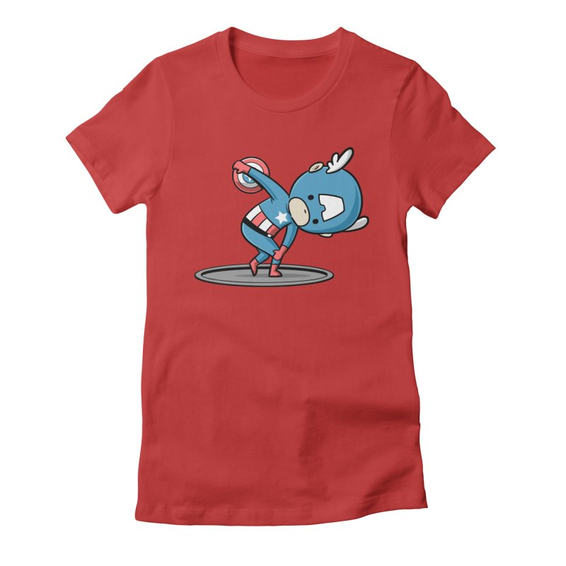 Sporty Buddy - Discus Throw Women's Fitted T-Shirt by Flying Mouse365