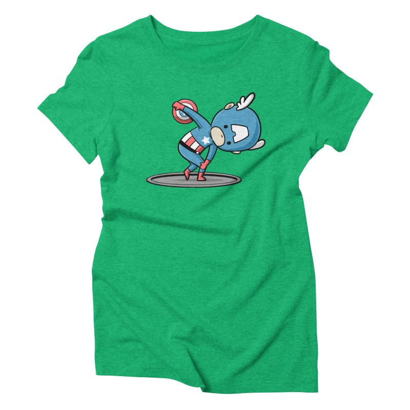 Sporty Buddy - Discus Throw Women's Triblend T-shirt by Flying Mouse365