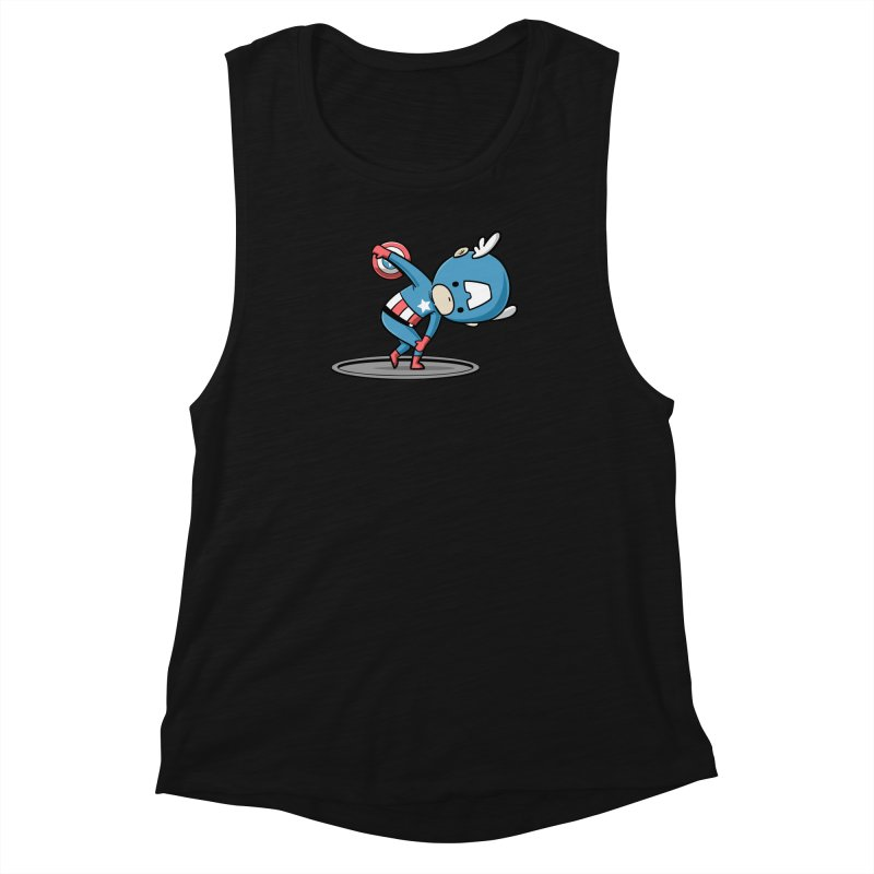 Sporty Buddy - Discus Throw Women's Muscle Tank by Flying Mouse365