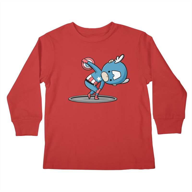 Sporty Buddy - Discus Throw Kids Longsleeve T-Shirt by Flying Mouse365