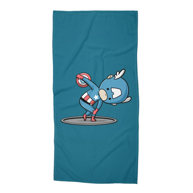 Sporty Buddy - Discus Throw Accessories Beach Towel by Flying Mouse365