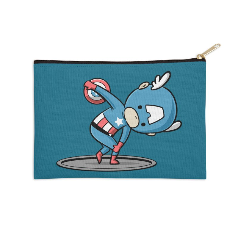 Sporty Buddy - Discus Throw Accessories Zip Pouch by Flying Mouse365
