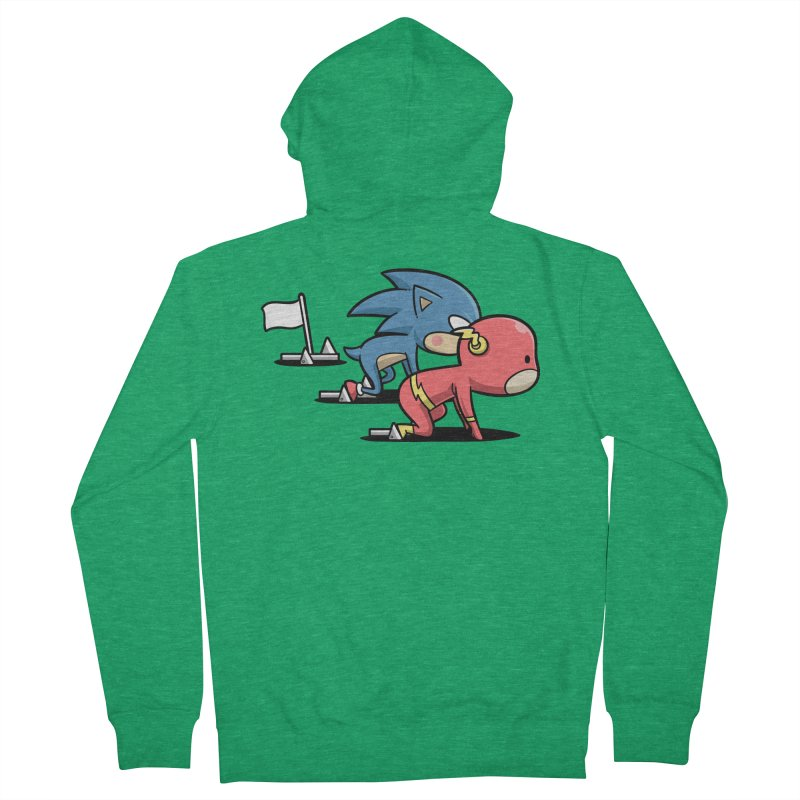 Sporty Buddy - Athletics Men's Zip-Up Hoody by Flying Mouse365