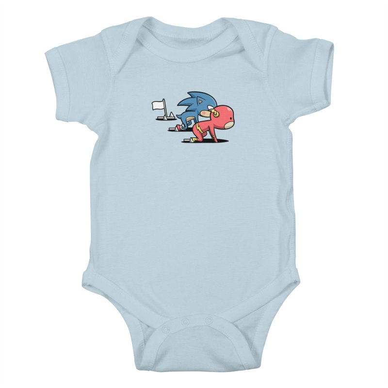 Sporty Buddy - Athletics Kids Baby Bodysuit by Flying Mouse365