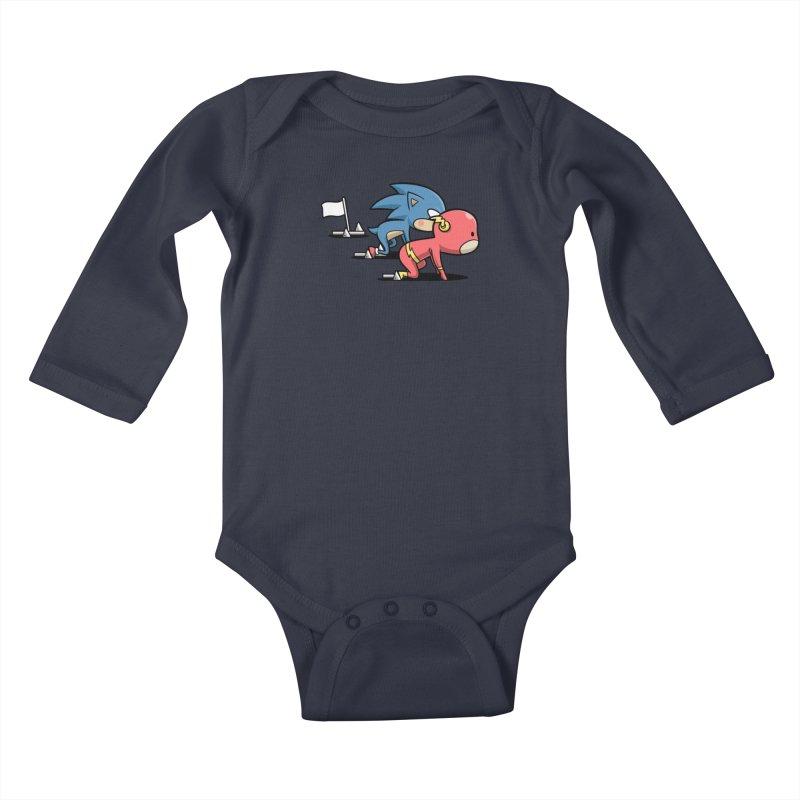 Sporty Buddy - Athletics Kids Baby Longsleeve Bodysuit by Flying Mouse365