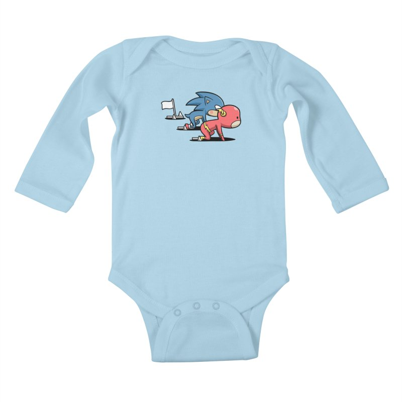 Sporty Buddy - Athletics Kids Baby Longsleeve Bodysuit by Flying Mouse365