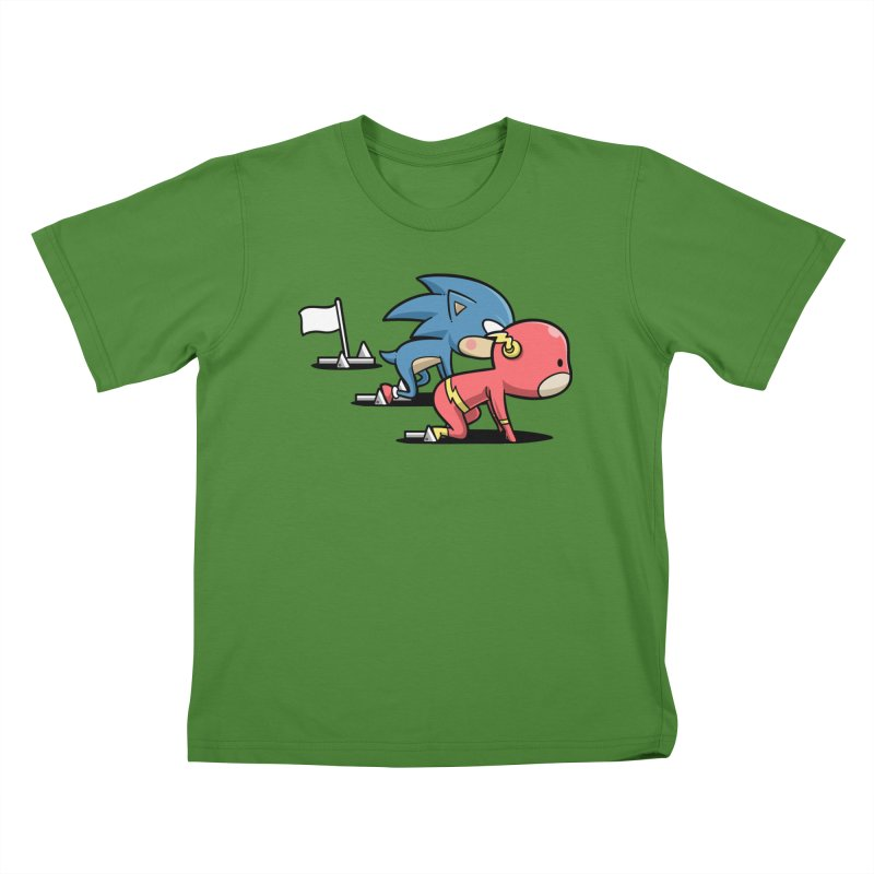 Sporty Buddy - Athletics Kids T-shirt by Flying Mouse365