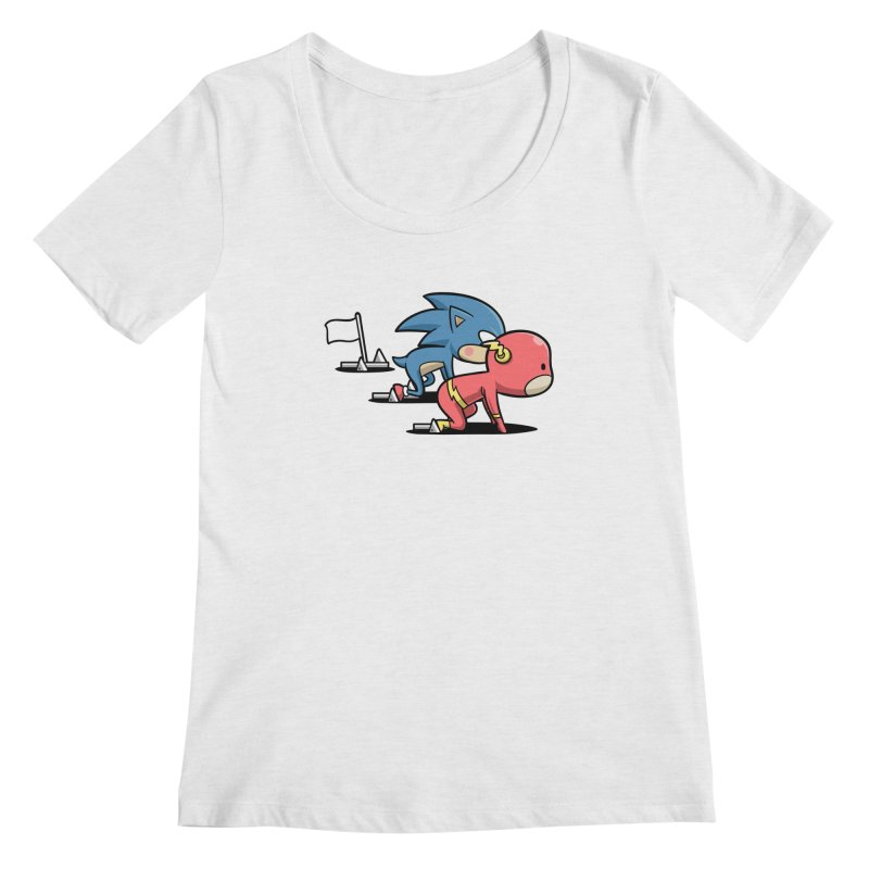 Sporty Buddy - Athletics Women's Scoopneck by Flying Mouse365