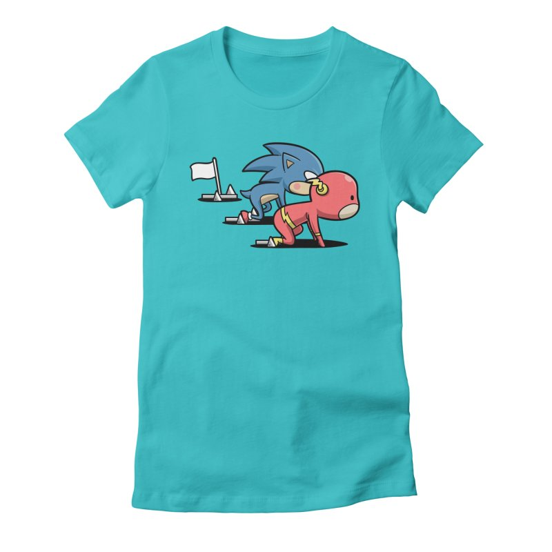 Sporty Buddy - Athletics Women's Fitted T-Shirt by Flying Mouse365