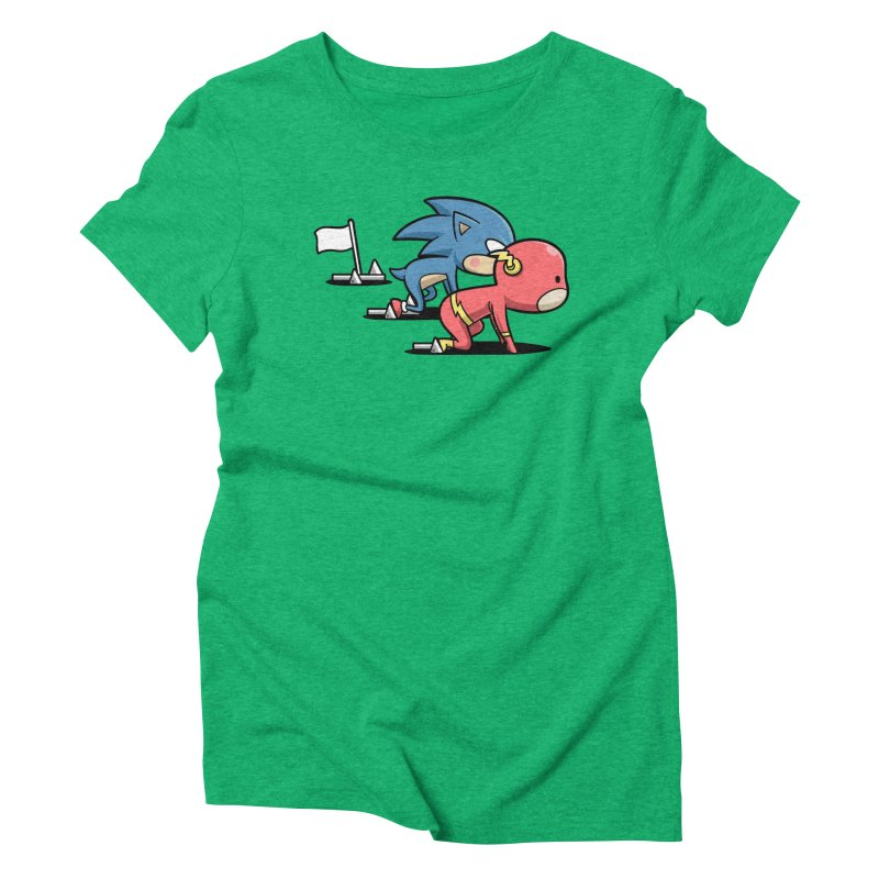 Sporty Buddy - Athletics Women's Triblend T-shirt by Flying Mouse365