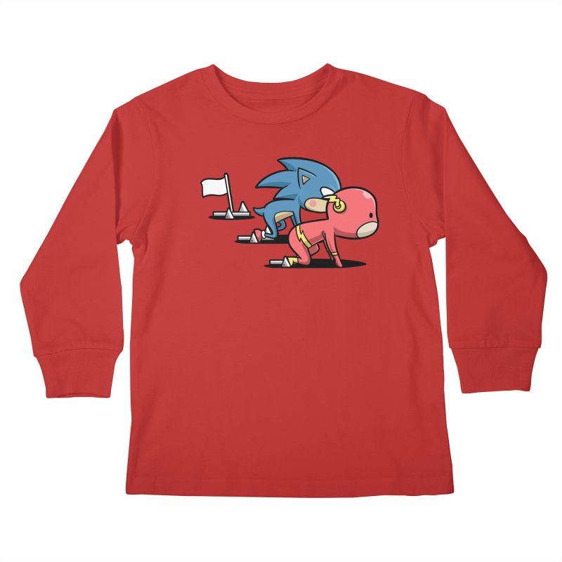 Sporty Buddy - Athletics Kids Longsleeve T-Shirt by Flying Mouse365