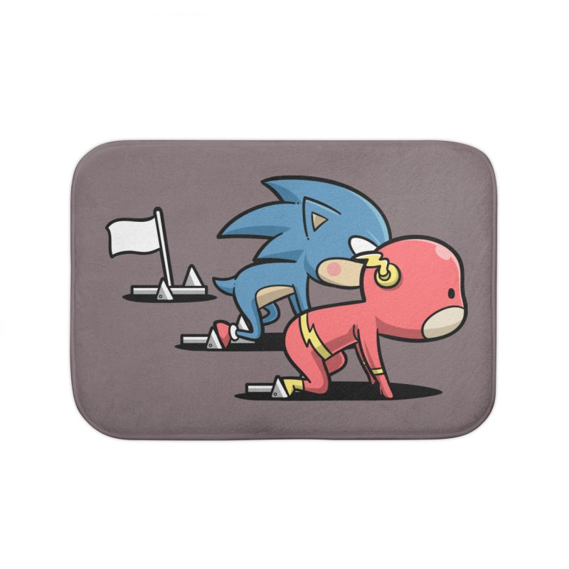 Sporty Buddy - Athletics Home Bath Mat by Flying Mouse365