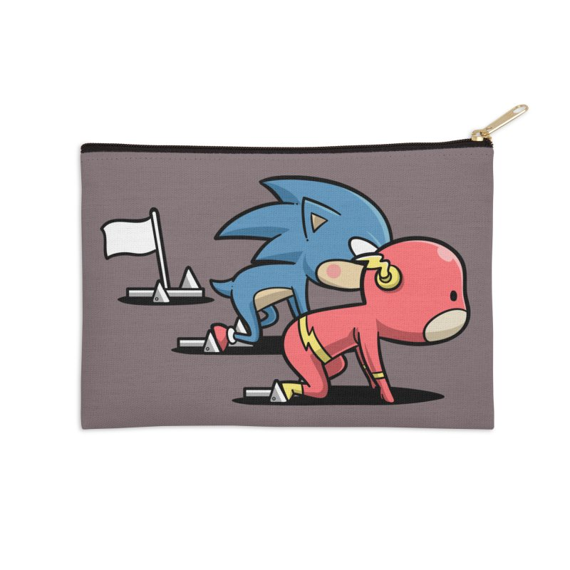 Sporty Buddy - Athletics Accessories Zip Pouch by Flying Mouse365