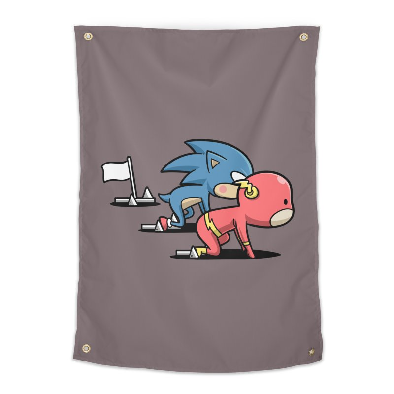 Sporty Buddy - Athletics Home Tapestry by Flying Mouse365